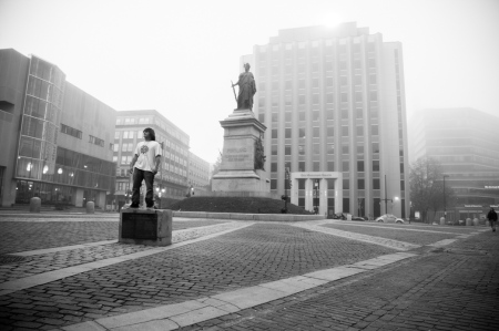 Portland, Monument Square©Sujata Khanna. All Rights Reserved