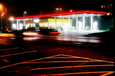 Gas Lights (Neon Series)©Dave Wade. 15 Artists on view at URBAN, now through Nov. 1 at VoxPhotographs.