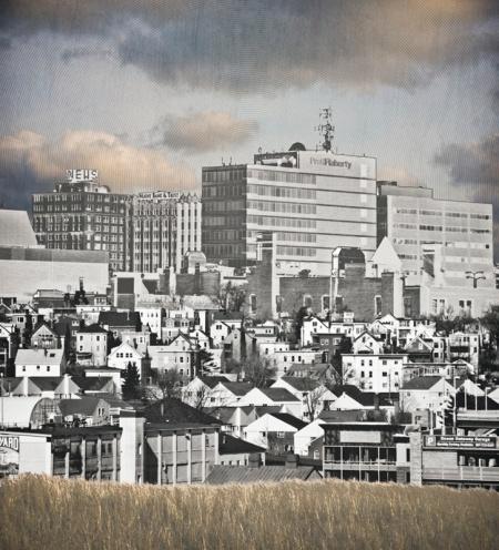 Portland Montage©Corey Desrochers. At URBAN, now through November 1.