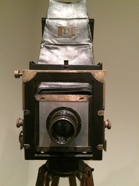 Strand's 8x10 view camera, on exhibit at the Philadelphia Museum of Art, through January 4, 2015.